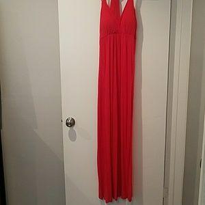 Strawberry pink maxi dress